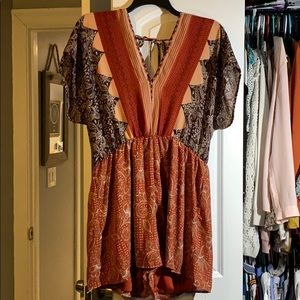 Charlotte Russe paisley romper